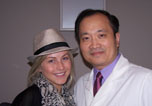 Dr Ming Wang and Julianne Hough